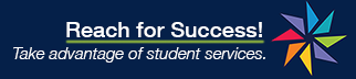 "pinwheel graphic and text that says ""Reach for Success! Take advantage of student services."" Links to success.ucsf.edu website."